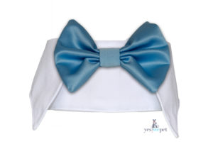 cuello con pajaritas para perros azul celeste