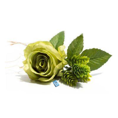 Adorno de flores artificiales para perros grandes verde