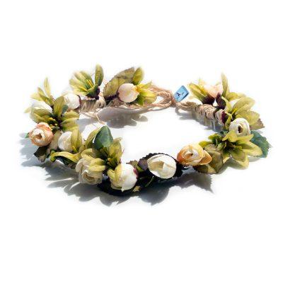 Corona para perros de flores artificiales
